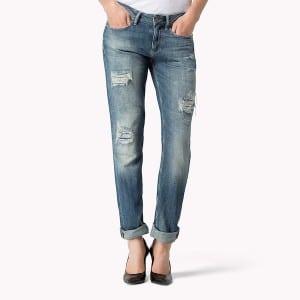 Jeans, destroyed, Formsache, Po