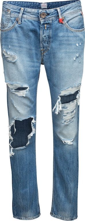 Jeans, Formsache, Po, destroyed, straight leg, hell