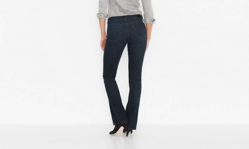 Jeans, Formsache, Po, Schlaghose, dunkel