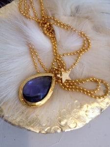 PM Dekormanufaktur, Kette gold mit blau