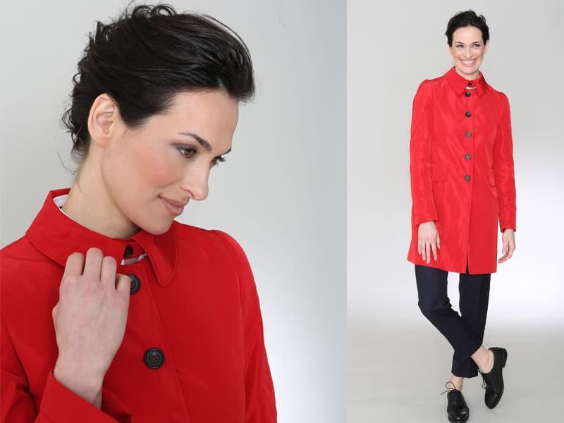 Damenmode, Businesskleidung Frauen, Helmkamp und Kallenborn, rotes Jacket