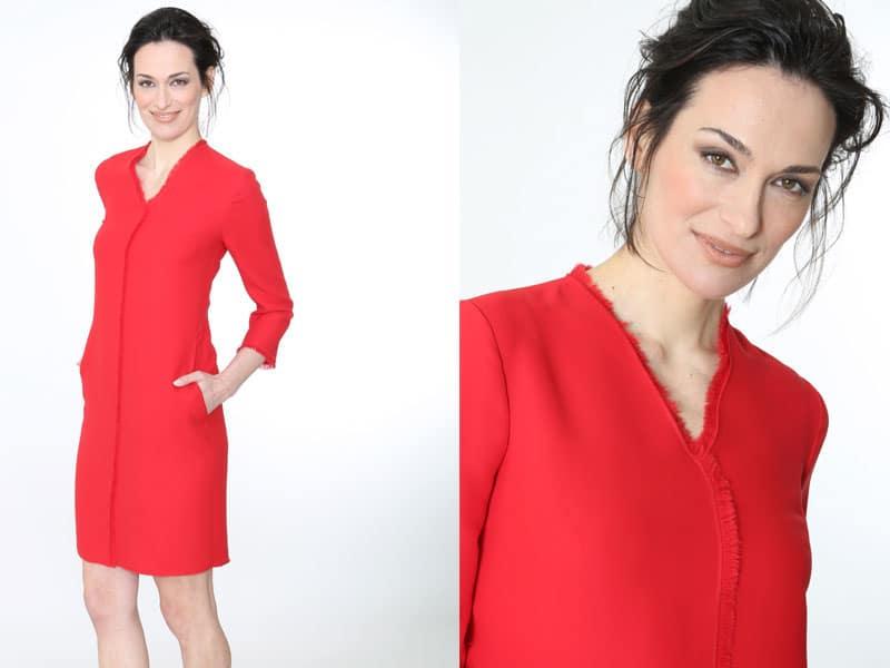 Damenmode, Businesskleidung Frauen, Helmkamp und Kallenborn, rotes Kleid