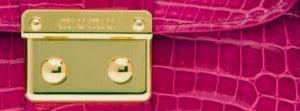 Designertasche, Miu Miu pink, goldene Schnalle