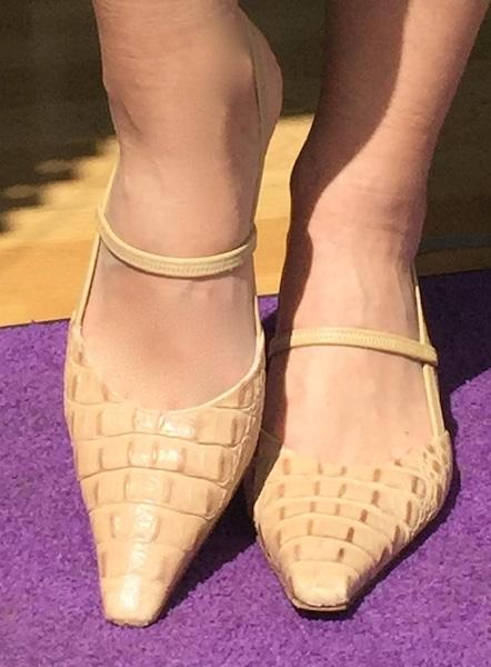 Damenmode, Frauenkleidung, Schuhe, spitze Kappe, Lange Beine