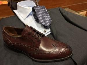 braune Schuhe zum braunen Anzug