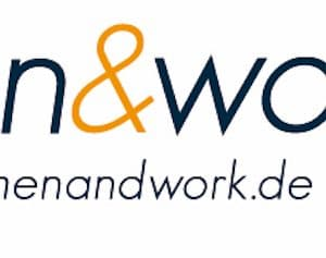 Logo women and work mit Webadresse