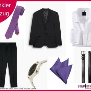 Dunkler Anzug, Semi Formal, Tenue foncee