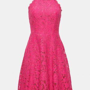 Pinkes Kleid für V-Figur