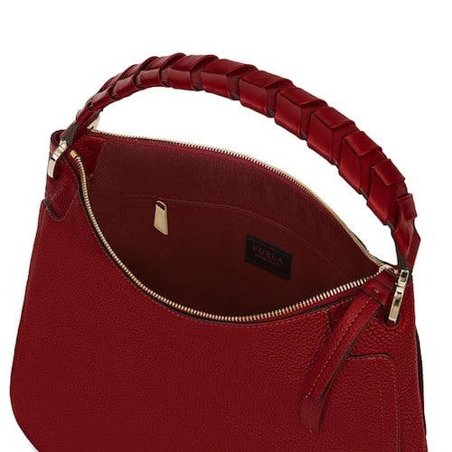 Rote Tasche Furla mit Reißverschluss