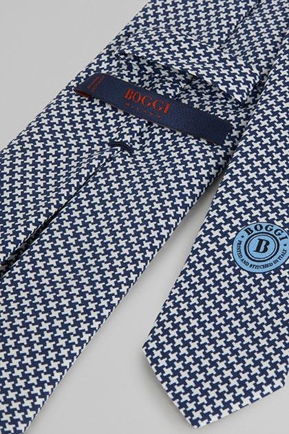 Blau karierte Krawatte
