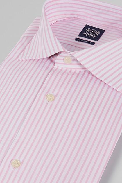 Rosa gestreiftes Herrenhemd