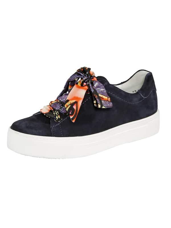 Vamos Sneakers blau mit bunter Schleife