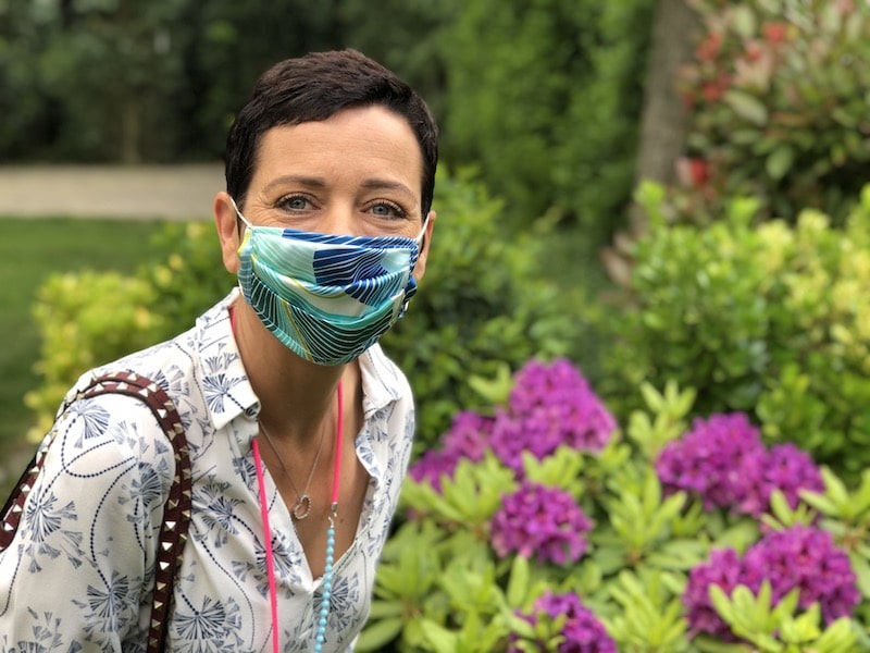Mundschutzmaske aus Seide